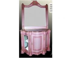 Barock rosa Frisier Kommode Antik Stil Rokoko MoCoC0645+645