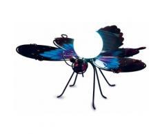 Solar-Dekoleuchte Schmetterling blau