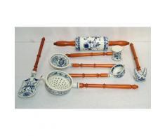 Porzellan Küchenhelfer Set, Küchenutensilien, Küchenset Zwiebelmuster