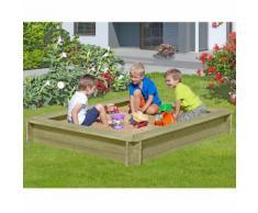 Sandkasten Stabil 1,8 x 1,8 m aus Holz 30 mm stark