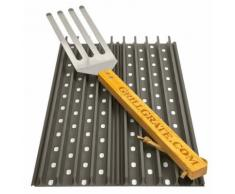 GrillGrate Kit Set 2 50,8x13,34 cm Grillplatten Grillrost Grill Grillgitter Grillplatte-Copy