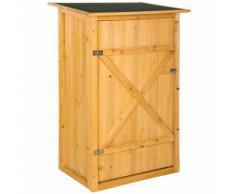 Gartenschrank Gerätehaus Geräteschuppen Werkstattschrank Gartenhaus Holz mit Flachdach
