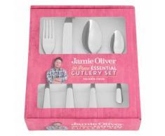 Jamie Oliver Essential Besteckset, 24-tlg., Besteck, Messer, Gabel, Löffel, Edelstahl Poliert, 55517