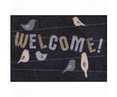 Salonloewe Fußmatte waschbar Welcome Home Birds 50x75 cm SLD1253-050x075