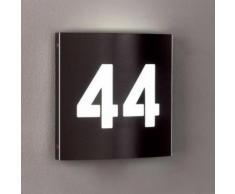 LED Hausnummernleuchte A-341750, 2-stellig, Edelstahl, Ziffernhöhe 100 mm