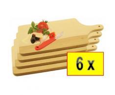 6 Stück Raclette-Brettchen,Pizza-Brett,Bruschetta-,Fonduebrett, Steakteller und Bruschetta-Servierbr