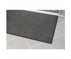 Schmutzfangmatte, gerippt - LxB 1200 x 900 mm - grau - Anti-Rutschmatte Bodenmatte Bodenschutzmatte