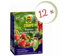 Oleanderhof® Sparset: 12 x Compo Beeren Langzeit-Dünger, 850 g + gratis Oleanderhof Flyer