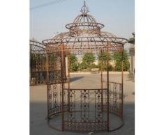 Garten-Pavillon Crown, Pavillion mit Seitenwänden, rund Ø 2 Meter, Höhe 340 cm, stabiles Eisen