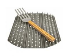 GrillGrate Kit Set 3 57 cm Grillplatten Grillrost Grill Grillgitter Grillplatte für Kugelgrill