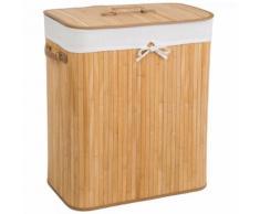 Bambus Wäschekorb Wäschesammler Wäschetruhe Wäschebox 100L Wäschetonne Box natur