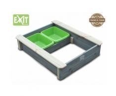 Exit Aksent Sandkasten mit Deckel / inkl. zwei Kunststoffbecken / Material: Nordisches Fichtenholz /