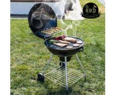 Black BBQ Classics Holzkohlegrill mit Deckel und Rädern