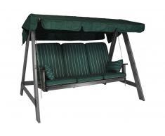 Bodö Hollywoodschaukel Vintage Grey (3-Sitzer) Design Faro grün