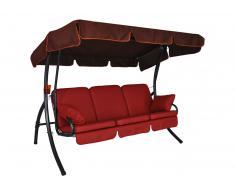 Premium Comfort Hollywoodschaukel (3-Sitzer) Leder rot
