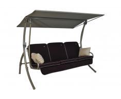 Primero Style Hollywoodschaukel beige (3-Sitzer) Style lila