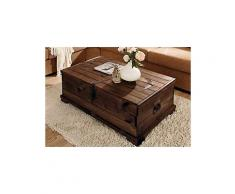 HOME AFFAIRE Home affaire, Truhen-Couchtisch braun rechteckig Tisch mit aufklappbarem Deckel