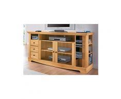 HOME AFFAIRE TV-Tisch, Home affaire, Breite 153 cm, Belastbarkeit bis 40 kg natur Schubkästen auf Metallschienen