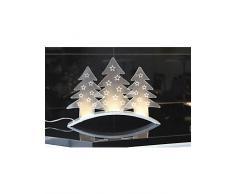 Unisex LED-Tischdeko weiß Zuleitung ca. 180 cm, mit Schalter