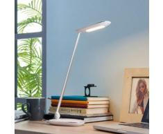 Weiße LED-Schreibtischlampe Verena, USB-Anschluss
