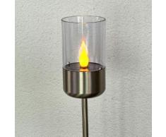 Flackernde LED-Solarlampe Milli mit Erdspieß