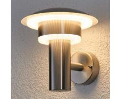 Dekorative LED-Edelstahl-Außenwandleuchte Lillie