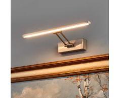 Nickelfarbene LED-Bilderleuchte Emilias