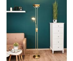 Josefin - LED-Stehlampe mit Leseleuchte, messing