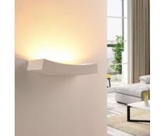 LED-Wandfluter Tiara aus Gips, G9-Lampe dimmbar