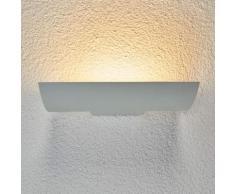 Weißer LED-Wandfluter Dijora für draußen
