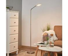 Nickelfarbene LED-Leseleuchte Friedarika