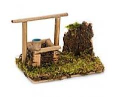 Brunnen aus Holz, 13,5 x 8,5 x 10 cm