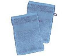 2er-Pack buttinette Walk-Frottier-Waschhandschuh, blau