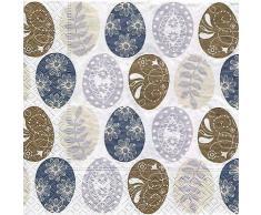 Papierserviette Ostereier natur, 33 x 33 cm, 20 Stück