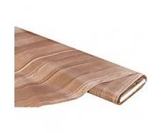 Abwaschbare Tischwäsche - Wachstuch Holz-Design, braun