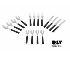 Besteck Set 16-tlg schwarz DAY Edelstahl Löffel Gabel Messer