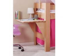 Schreibtisch Spielbett LEO, Buche massiv, geölt holzfarben Kinder