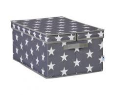 Ordnungsbox mit Klappdeckel grau