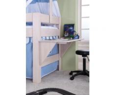 Schreibtisch Spielbett LEO, Buche massiv, weiß wash Kinder