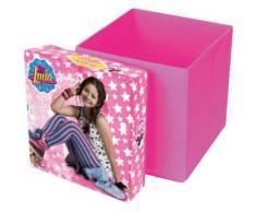 Sitzwürfel & Aufbewahrungsbox Soy Luna, 31 x 31 cm rosa
