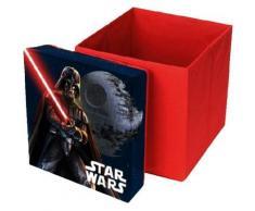Sitzwürfel & Aufbewahrungsbox Star Wars, 31 x 31 cm rot