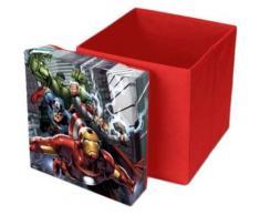 Sitzwürfel & Aufbewahrungsbox Avengers, 31 x 31 cm rot