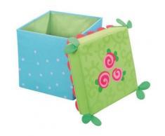 Sitzwürfel & Aufbewahrungsbox Rosenfee blau