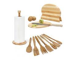 3 tlg. Küchenutensilien-Set beige