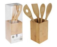 5-tlg. Küchenhelfer Set aus Bambus beige