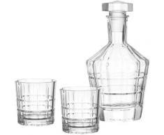 """3tlg. Whiskyset ""Spiritii"" mit Karaffe farblos"""