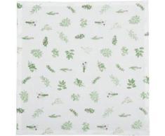 6er- Set Stoff-Servietten 40x40 cm grün/weiß