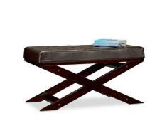 Sitzbank mit Polster ohne Lehne, 76x38 cm braun