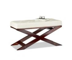 Sitzbank mit Polster ohne Lehne, 76x38 cm weiß