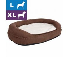 Hundebett Memory oval - braun - L 100 x B 65 x H 22 cm